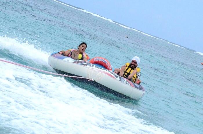Water sport activities in Ile Aux Cerf
