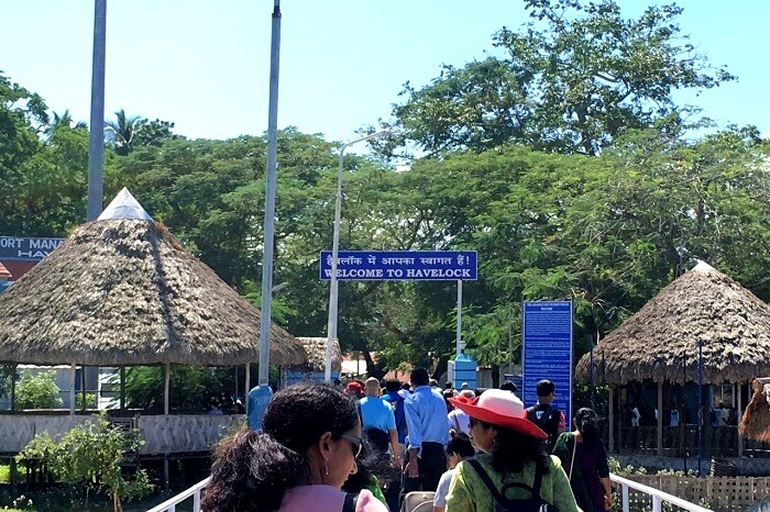 Entering at the Havelock Island pier