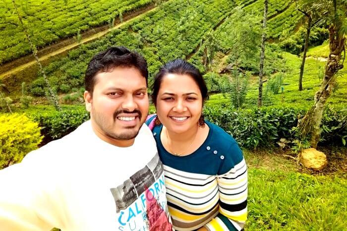 Enjoying the tea gardens in Sri Lanka