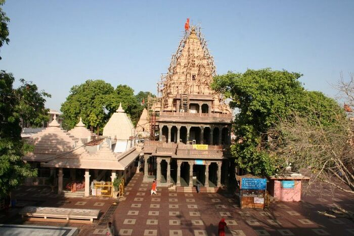 The famous Mahakaleshwar Jyotirlinga Temple in the ancient city of Ujjain