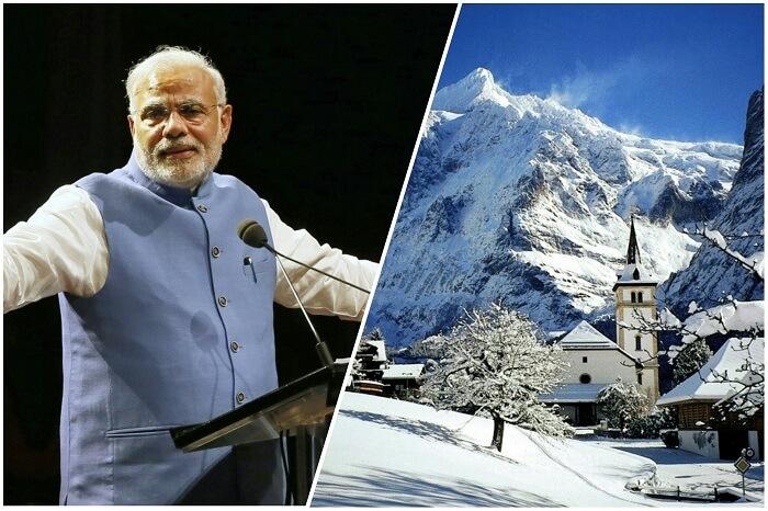 Modi giving a rousing speech