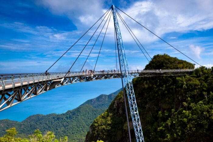 The picturesque Langkawi Sky Bridge in Malaysia