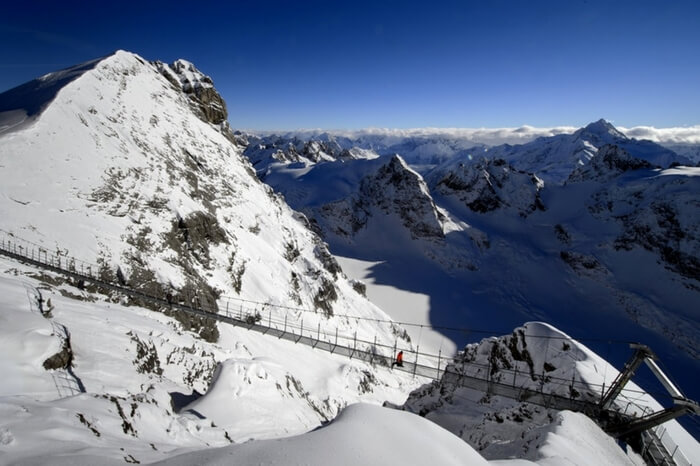 Titlis Cliff Walk in Switzerland
