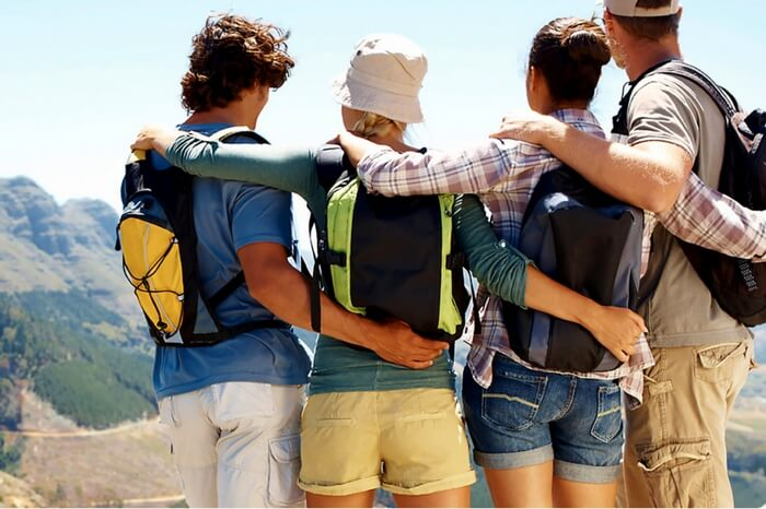 Youngsters traveling in group