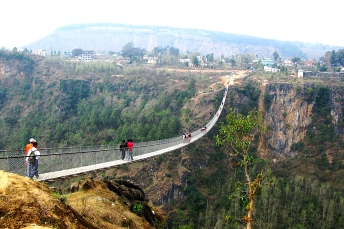 Kusma Gyadi Suspension Bridge at Kusum Parbat in Nepal