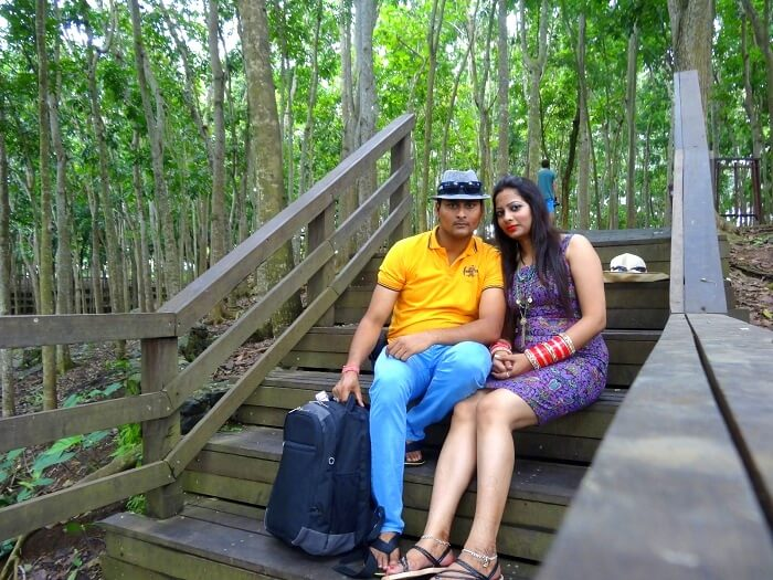 Suraj and his wife take a tour in Bali