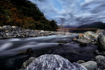 An evening shot of the river passing through the Dibang Valley