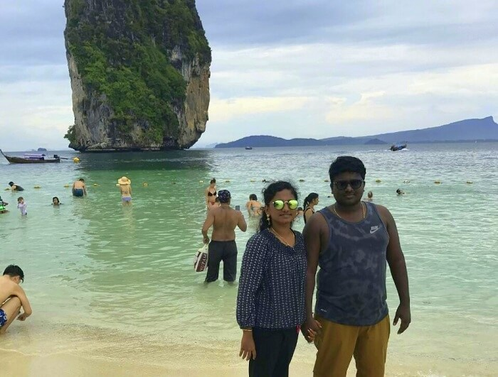 Jegen and wife doing sightseeing in phuket
