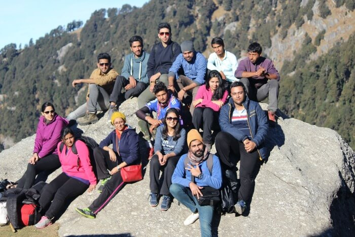 tejal with the entire group in mcleodganj