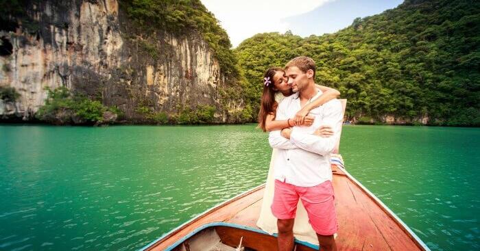 A couple on a honeymoon in Krabi