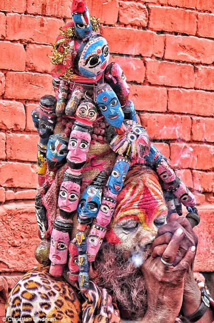 high-on-hash holy folks in Kathmandu