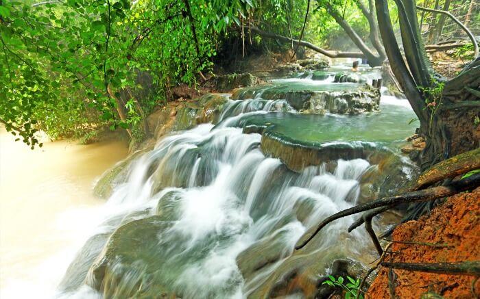 Khlong Thom hot waterfall in Krabi