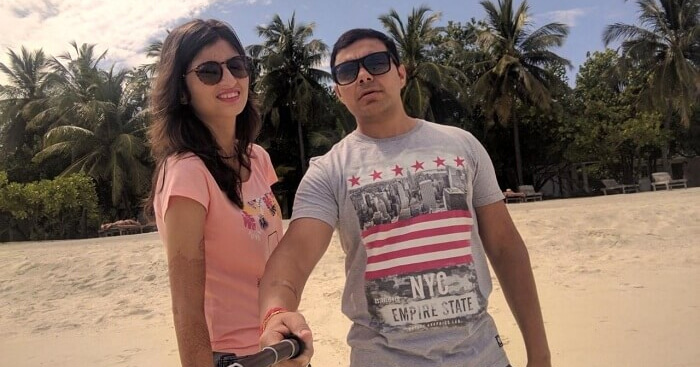 Manish on a honeymoon trip to Maldives