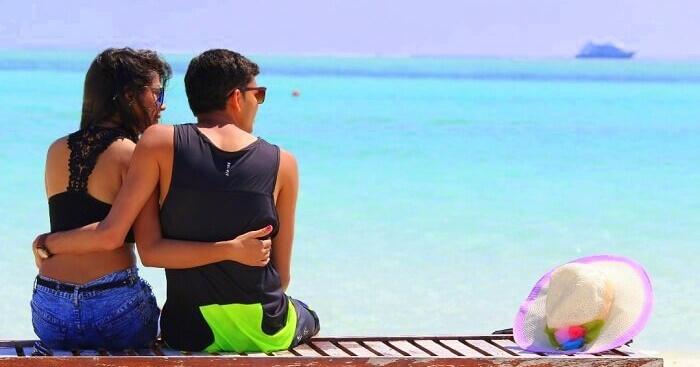 Nisarg on a honeymoon in Maldives