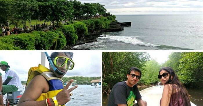 Nishant on a honeymoon trip to Bali
