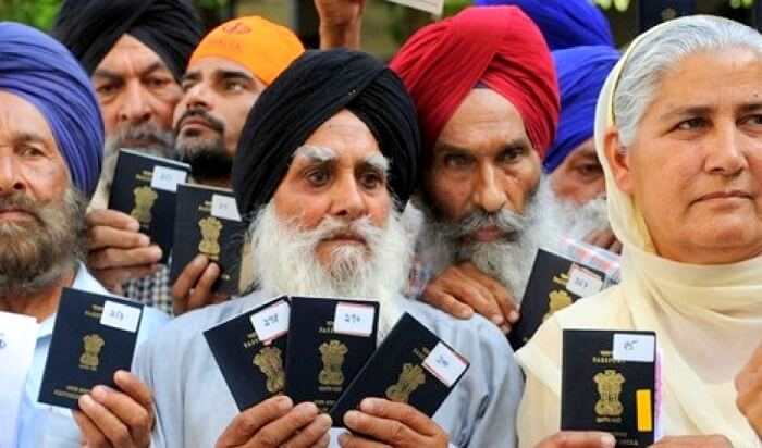 People with Indian passports
