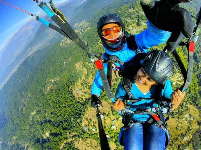 finally indulging in paragliding over Bir