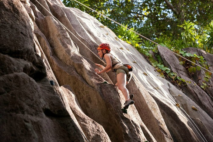 do rock climbing, rappelling, hiking in seychelles