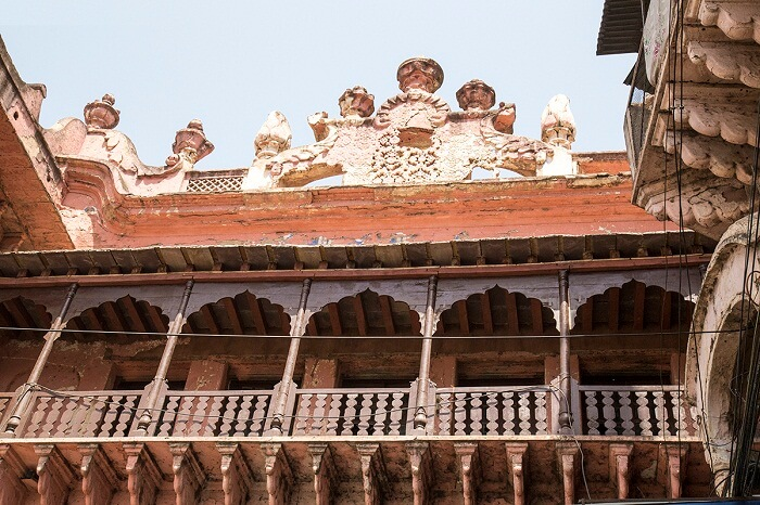 The vintage Shaukat Mahal in Bhopal