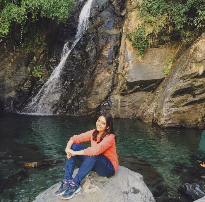 tejal at bhagsu falls