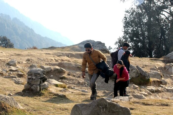 tejal's friend trekking to triund