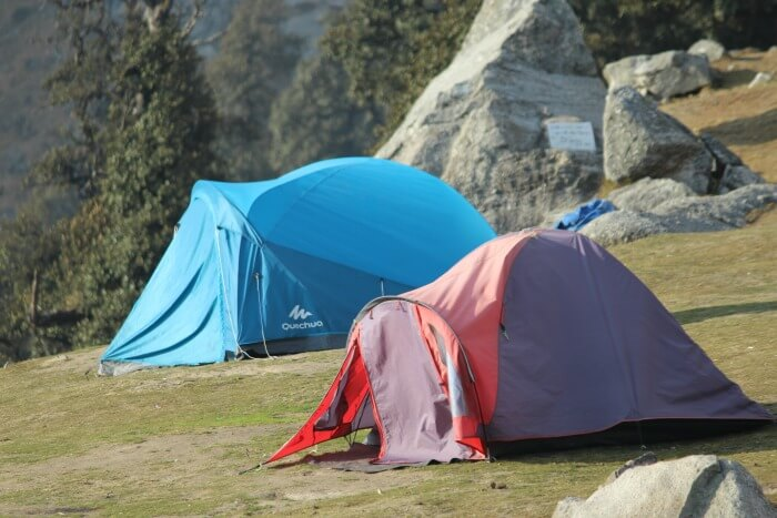 tejal's campsite at triund