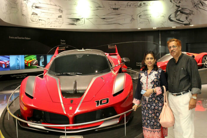 Riding ferraris and rides at Ferrari World