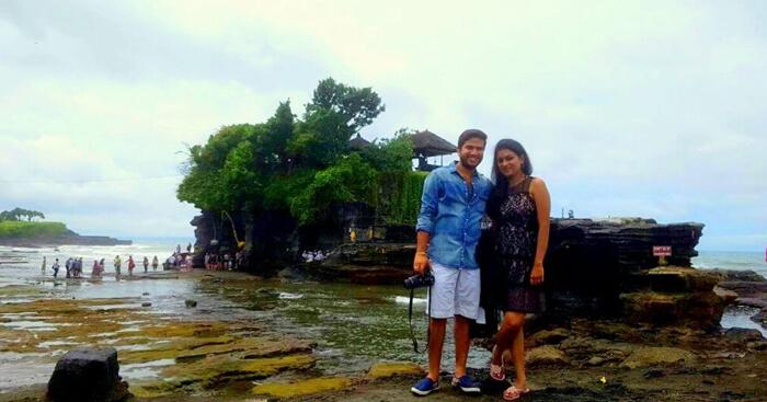 Vishal on a honeymoon trip to Bali