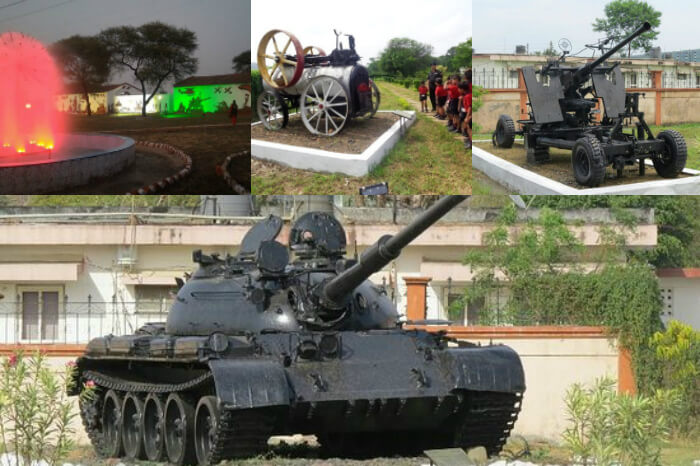The various exhibits and hightlights of the Yodhasthal in Bhopal