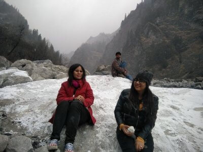 Snowfall in Solang Valley