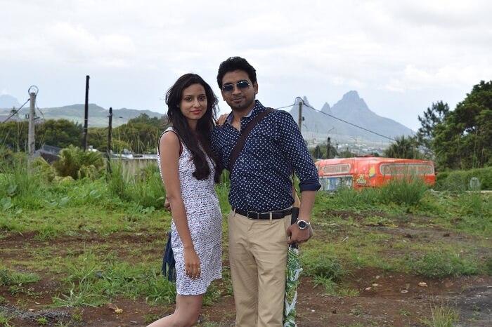 Couple enjoy honeymoon in Mauritius