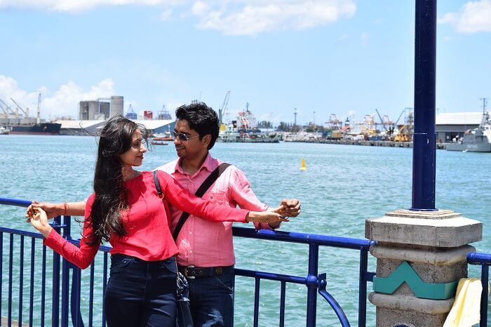 Romantic couple in Mauritius
