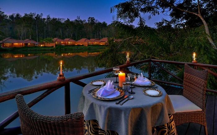 Romantic setting in an evening in Coorg
