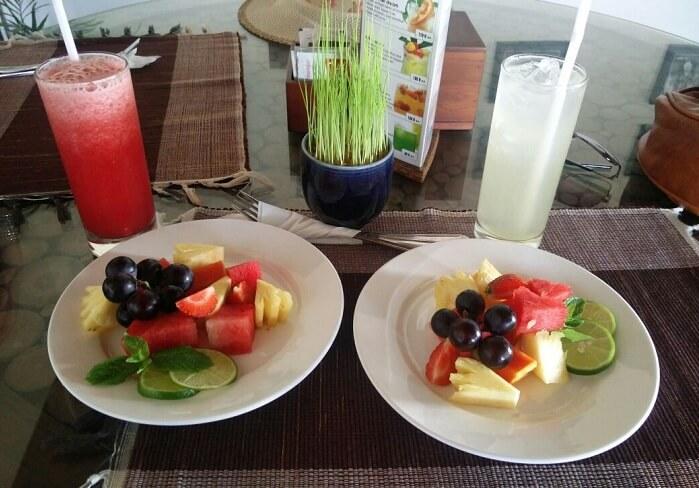 Bali villa cuisine