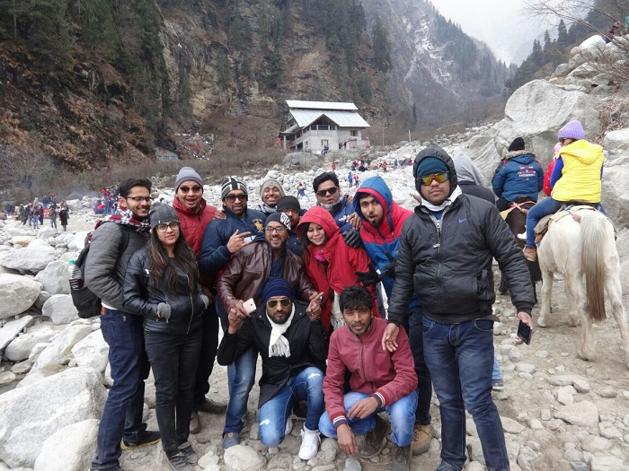 Group tour in Solang
