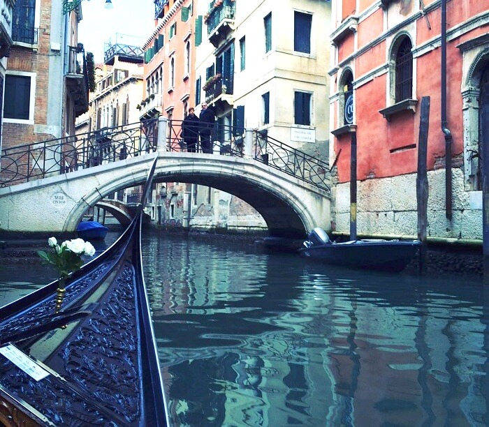 Exploring the canals of Venice