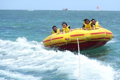 banana boat ride in Bali