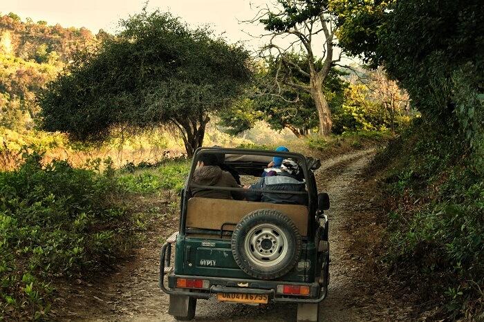 passing the rugged terrains in jim corbett