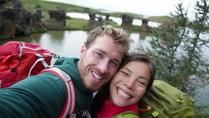 Romantic couple in Iceland