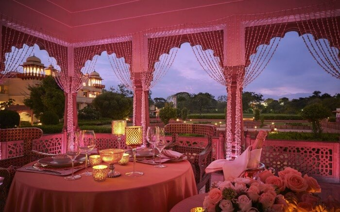 Romantic setting in Jaipur