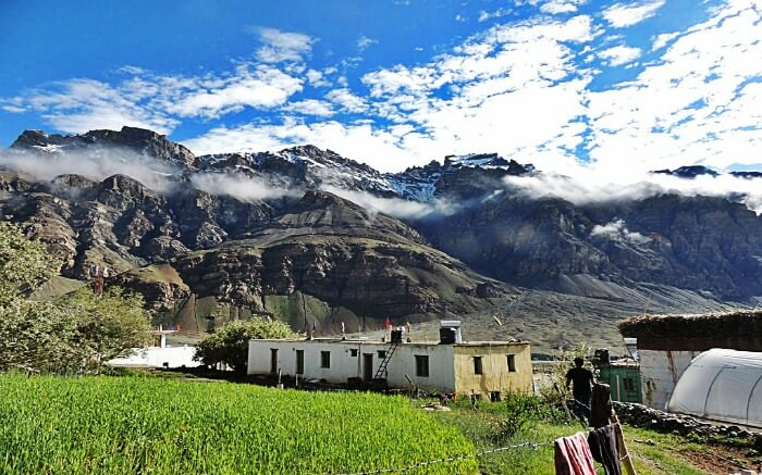 View of Losar in Spiti