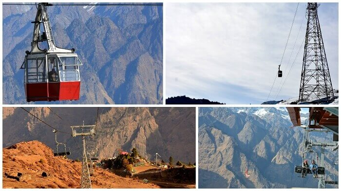Collage showing Auli-Joshimath ropeway
