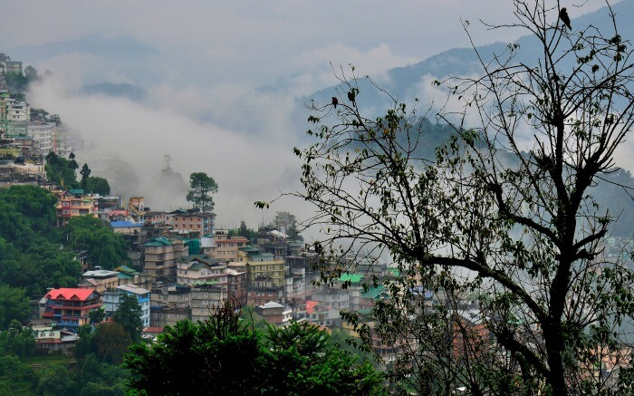 Cloud kissed hills in Sikkim