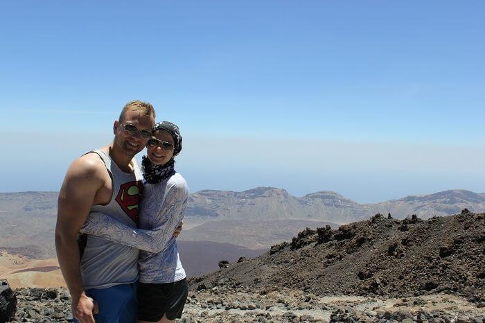 couple on tenerife mountain