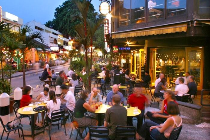 Nightlife in Holland village singapore