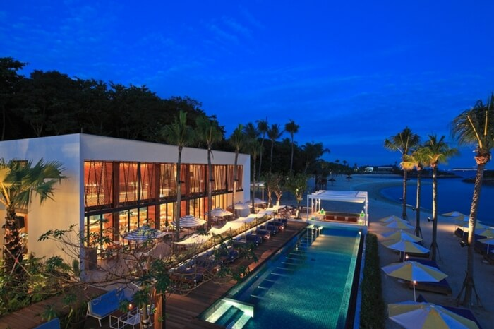 Pool view of Tanjong Beach Club in Singapore