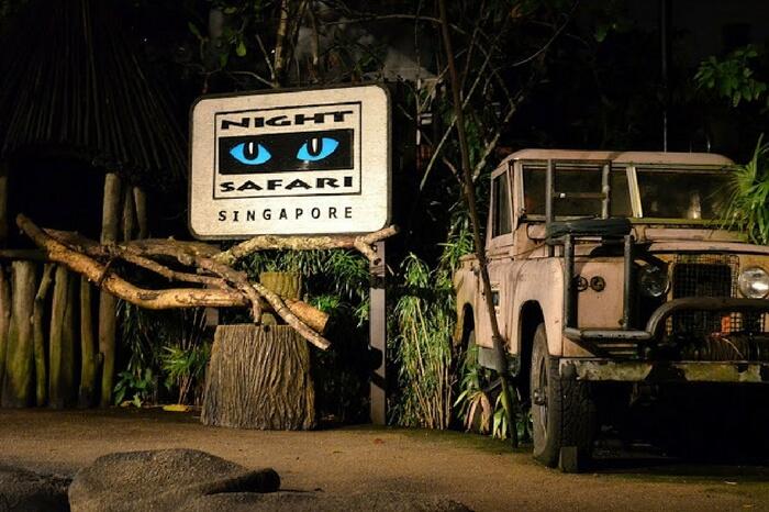 Night safari in Singapore,