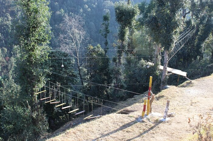 burma bridge in dhanaulti