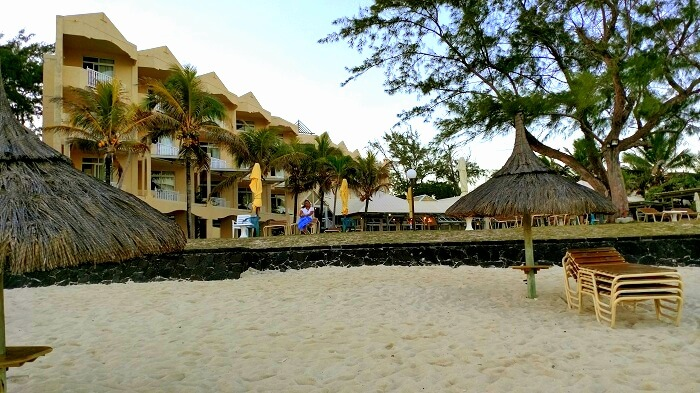 The beautiful Silver Beach Resort in Mauritius