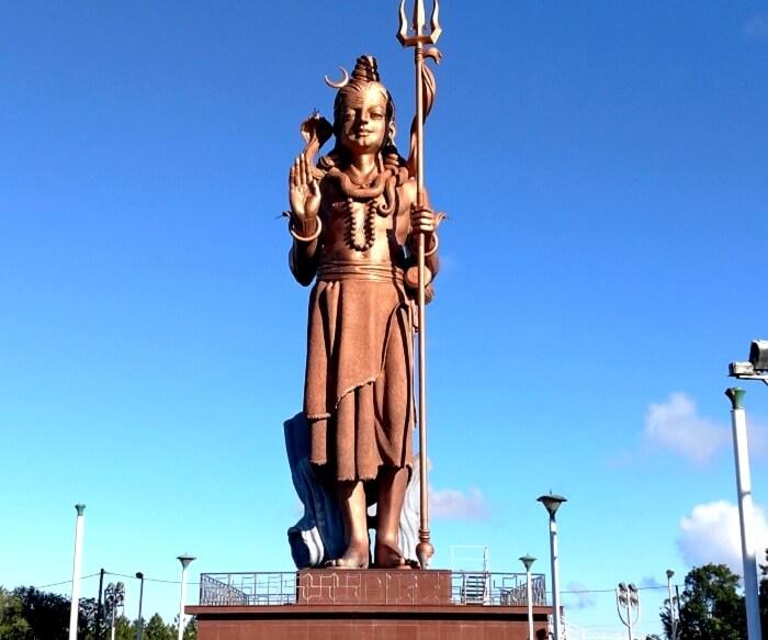 Shiva temple in Mauritius south island tour